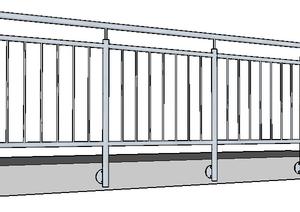 Balkon Brüstung