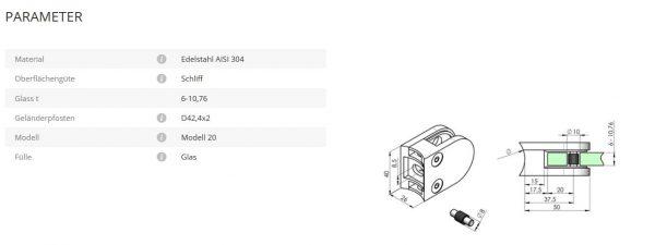 Glashalter Mod20 42,4