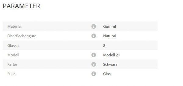 Gummieinlage Mod21 8