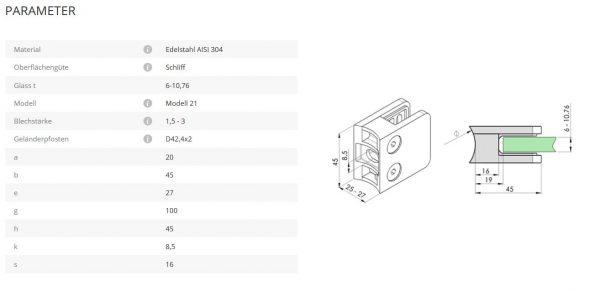 Glashalter Mod21 42,4