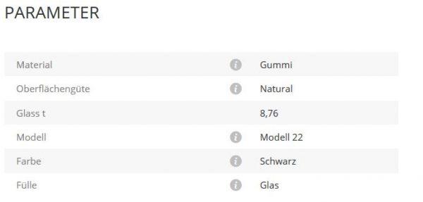 Glashalter Mod22 Gummi 8,76