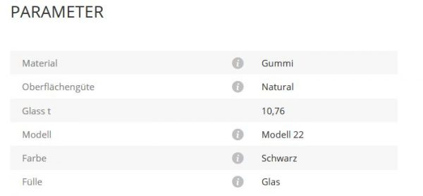 Glashalter Mod22 Gummi 10,76