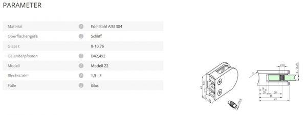 Glashalter Mod22 42,4