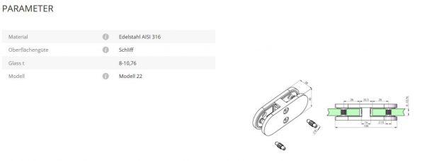 Glasverbinder Mod22
