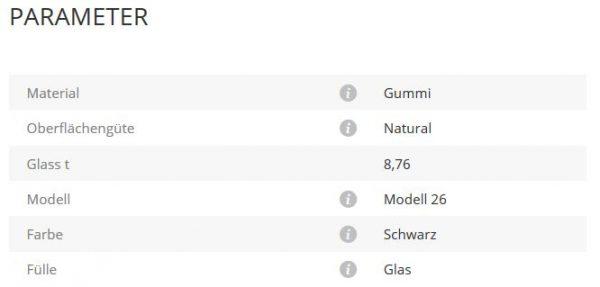 Glashalter Mod230 Gummi 8,76