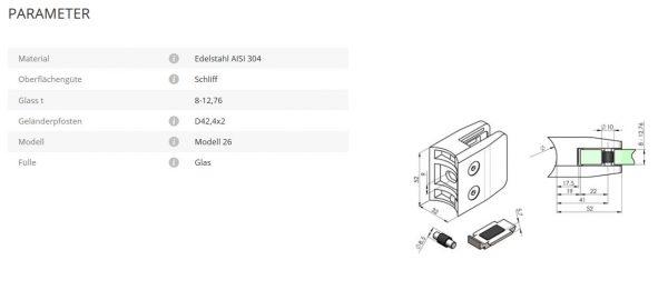 Glashalter Mod26 42,4