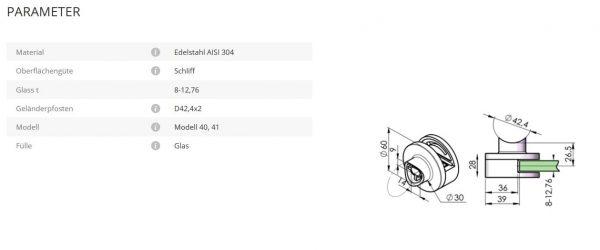 Glashalter Mod40 42,4
