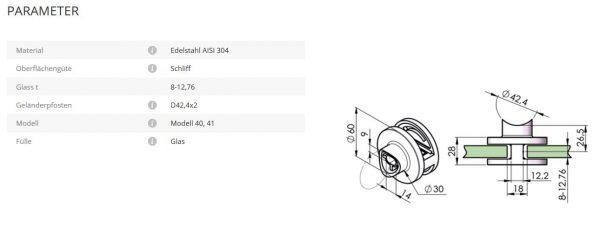 Glashalter Mod41 42,4