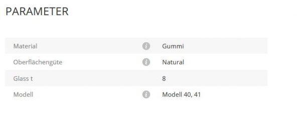 Gummieinlage Mod40/41 8
