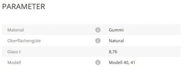 Gummieinlage Mod40/41 8,76