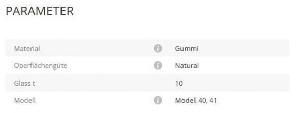 Gummieinlage Mod40/41 10