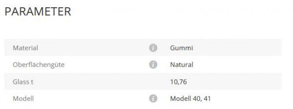 Gummieinlage Mod40/41 10,76