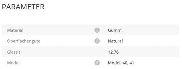 Gummieinlage Mod40/41 12,76